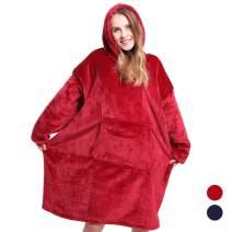 Heartbeat Plush Hoodie Ultra Plush Blanket Flannel Hoodie One Size Fit All,Warm, Soft, Cozy Sherpa Blanket Sweatshirt, Men Women Winter Soft Warm Coats - As Seen On TV