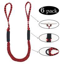 Jranter Bungee Dock Lines -Pack of 6 Mooring Rope for Boat