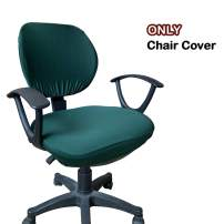 WOMACO Desk Chair Cover, Computer Office Chair Covers Removable Universal Chair Covers Stretch Rotating Chair Slipcover (180-Dark Green)