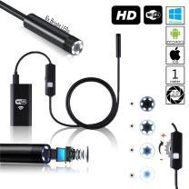 WiFi Waterproof Inspection Camera - 1M Long - LED Illumination - 8X Adjustable LEDs