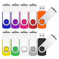USB Flash Drive, 10 Pack USB 2.0 Flash Drive with Lanyards USB Drive (2GB, 10 Mixed Color)