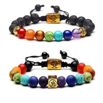 Bling Toman 7 Chakras Bracelet for Women Yoga Healing Bracelets Lava Beaded Bangle Bracelets Girls Diffuser Bracelets 8mm Bead Anxiety Bracelet