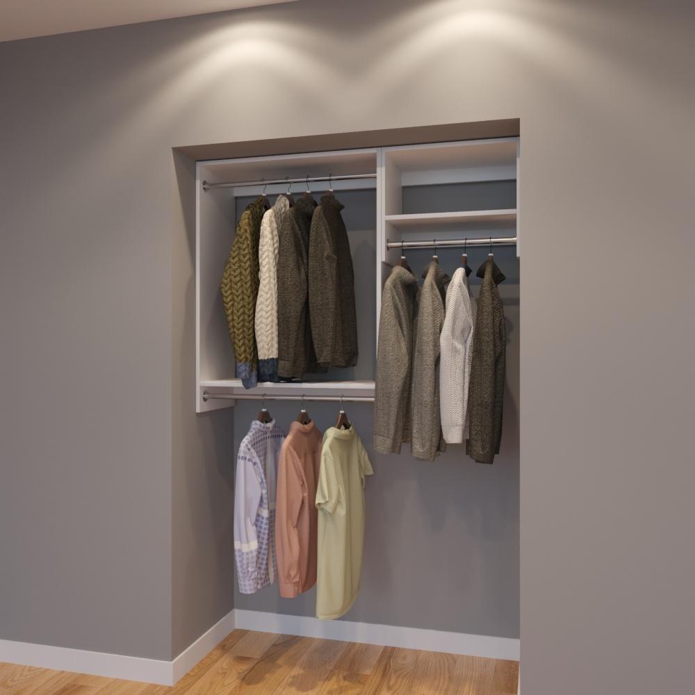 Modular Closets 4.5 FT Plywood Closet Organizer System - 54 inch - Style D