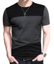 FRTCV Mens Short Sleeve T-Shirt Casual Tops Tee Classic Fit Basic Shirts