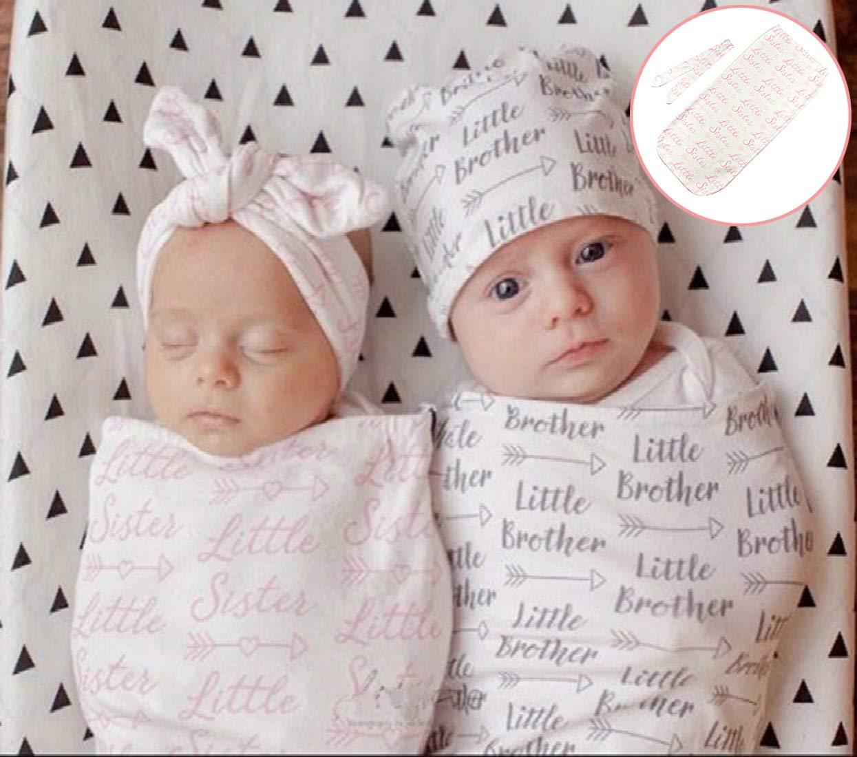 Giggle Angel Newborn Receiving Blanket Sleeping Bag Baby Swaddle Wrap Little Sister Standard