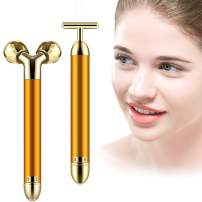 MIUSSAA 2-IN-1 Face Roller 24K Golden Skin Beauty Bar Face Massager Anti-Wrinkles, Skin Tightening, Face Firming For Eye Nose Face Neck Arm Body