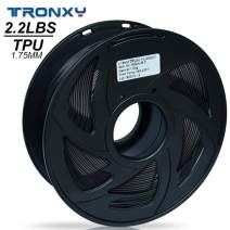 3D Flexible Black TPU Filament 1.75 mm, 2.2 LBS (1KG) Material: TPU