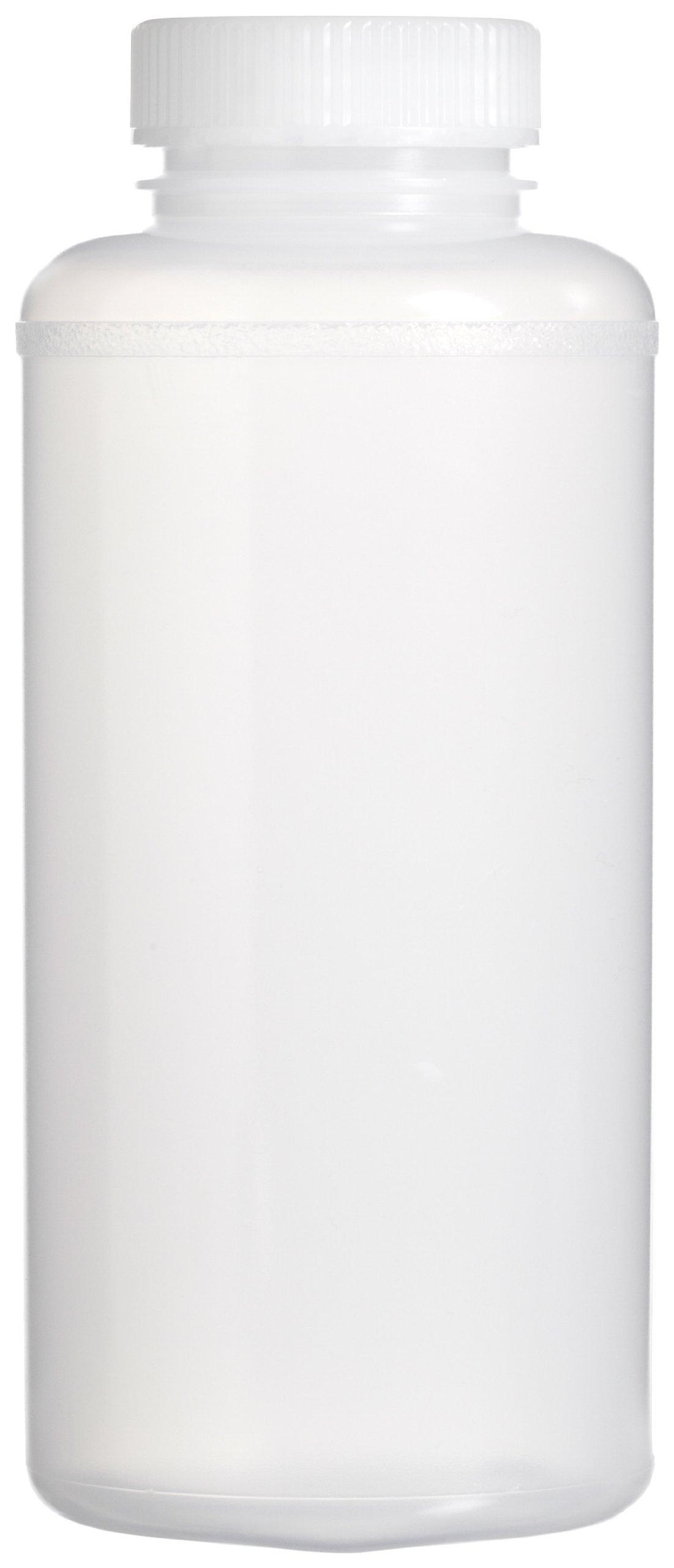 Bel-Art Precisionware Wide-Mouth 1000ml (32oz) Low-Density Polyethylene Bottles; Polypropylene Cap, 53mm Closure (Pack of 6) (F10626-0018)