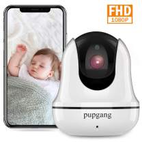 Home Security Camera, Pupgang Wireless WiFi IP Camera 1080P FHD Indoor Surveillance Home Camera for Baby Elder Pet Nanny Dome Camera with Night Vision, 2-Way Audio, Motion Detection, Remote Monitoring