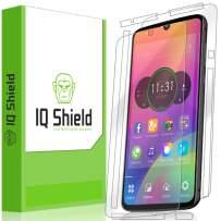 IQ Shield Full Body Skin Compatible with Motorola Moto Z4 + LiQuidSkin Clear (Full Coverage) Screen Protector HD and Anti-Bubble Film