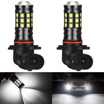 KATUR 9005 HB3 LED Fog Light Bulbs High Power 3030 Chips Super Bright 2700 Lumens with Projector for Driving Daytime Running Lights DRL or Fog Lights,6500K Xenon White(Pack of 2)