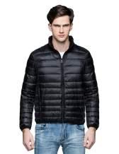 Camii Mia Men's Ultra Lightweight Winter Coat Packable Water Resistant Puffer Down Jacket