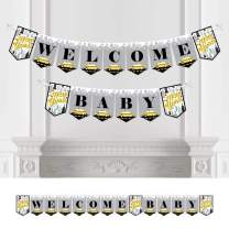Big Dot of Happiness NYC Cityscape - New York City Baby Shower Bunting Banner - Party Decorations - Welcome Baby