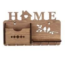 Sehaz Artworks Home Side Shelf WT KeyHolder Wooden Key Holder for Wall Decorative (7 Hooks)