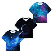 SAYM Boys' Youth 3-Pack Short Sleeve Moisture Wicking Tee Shirts 4-16Y