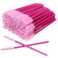 AKStore 100 PCS Disposable Eyelash Brushes Mascara Wands Eye Lash Eyebrow Applicator Cosmetic Makeup Brush Tool Kits (Rose-Pink)