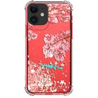 """HUIYCUU Case for iPhone 11 Case 6.1"""", Shockproof Anti-Slip Cute Glitter Clear Flower Design Crystal Pattern Slim Soft Bumper Girl Women Cover Compatible with iPhone 11 XI, Cherry Blossoms Fish"""