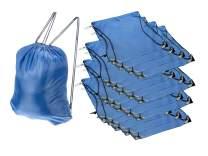 SE All-Purpose Blue Drawstring Backpacks (20-Pack) - BG-211DSB-BL-20