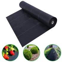 Agfabric 5x50ft Landscape Ground Cover Heavy PP Woven Weed Barrier,Soil Erosion Control and UV stabilized, Plastic Mulch Weed Block