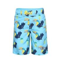 Rokka&Rolla Boys' Quick Dry Drawstring Waist Beach Swim Trunks Board Shorts with Mesh Lining