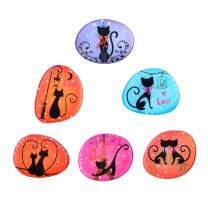 Cute Cat Fridge Magnets for Refrigerator Funny Black Kitty Magnet for Whiteboards Office Kids Lockers Gifts