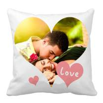 """Custom Pillow Cover Love Two-Sides Design Customized Personalize Throw Pillowcase Photo or Text (Style 1, 18""""x18"""")"""