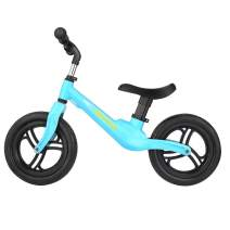 wesoky Kids Balance Bike, No Pedal Toddler Training Bicycle, 12inch Adjustable Push Balance Bike for Boys and Girls 1.5-5 Years Old