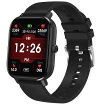 Smart Watch for Android iOS Blood Pressure Oxygen Monitor Fitness Tracker Lightweight Health Watch Step Sleep Tacker