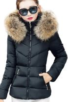 YMING Women's Winter Down Cotton Coat Warm Thickened Quilted Jacket with Hood