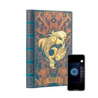 """AstroReality: Zodiac 12 Constellation Astrology Notebook, Interactive Augmented Reality Experience, 8x5"""", 192 Pages Writing Pad Journal, Unruled Embossed Hardcover (Pisces)"""