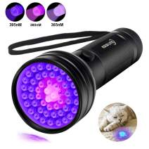 Escolite UV Flashlight Black Light, 3-in-1 51 LED 365nM 380nM 395 nM Ultraviolet Blacklight Flashlight Detector for Dog/Cat Urine, Dry Pet Stains and Bed Bug, Matching with Pet Odor Eliminator