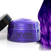 Color Hair Wax - Sevich Hair Style Dye Mud, Instantly Natural Hair Color, Natural Ingredients Washable, Temporary 100g/3.57Oz Purple