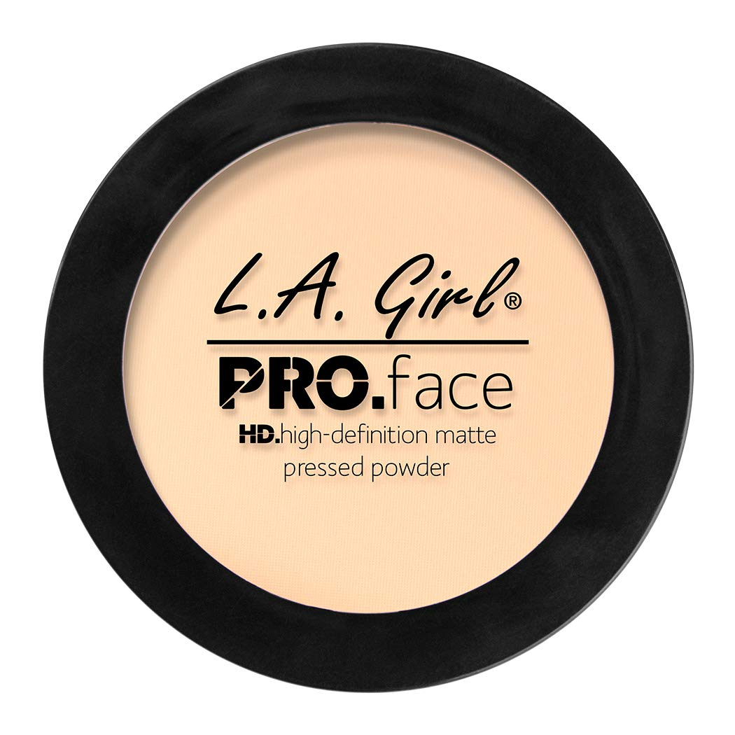 L.A. Girl Pro Face HD Matte Pressed Powder, Fair, 0.25 Ounce (Pack of 3)