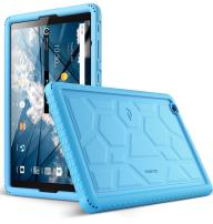 AT&T Primetime Tablet Case, Poetic TurtleSkin Series [Corner/Bumper Protection][Grip][Bottom Air Vents] Protective Silicone Case for ZTE ATT Primetime Tablet Blue