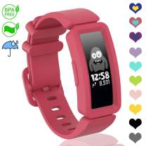 VEAQEE Compatible with Ace 2 Bands for Kids 6+, Soft Silicone Bracelet Accessories Sport Strap Boys Girls Wristbands Compatible for Fitbit Ace 2 & Inspire HR (Watermelon)