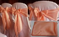 mds Set of 20 Satin Chair Sashes Bow for Wedding and Events Supplies Party Decoration Chair Cover sash -Pitch