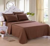 "JML Sheet Set, Twin Sheet Set - 4 Piece Bed Sheet Set - Soft Brushed Microfiber 2800 Thread Count, 14"" Deep Pocket, Wrinkle, Stain and Fade Resistant, Bedding Set, Brown"