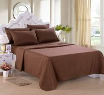 "JML Sheet Set, Twin Sheet Set - 4 Piece Bed Sheet Set - Soft Brushed Microfiber 2800 Thread Count, 14"" Deep Pocket, Wrinkle, Stain and Fade Resistant, Bedding Set, Brown"