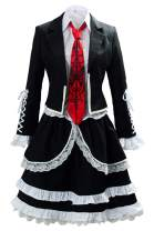 COSTHAT Danganronpa V3 Celestia Ludenberg Cosplay Costume Dress Halloween School Uniform Outfit for Women