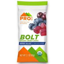 PROBAR - Bolt Organic Energy Chews, Berry Blast, Non-GMO, Gluten-Free, USDA Certified Organic, Healthy, Natural Energy, Fast Fuel Gummies with Vitamins B & C (12 Count)