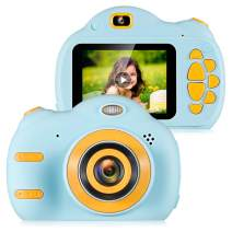 "ZEEPIN Kids Digital Camera , 1080P FHD Children Video Cameras with 2.4"" Color Screen Great Gifts for 4-8 Year Old Boys to Play, Blue (16GB Memory Card Included)"