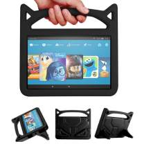 F ire H D 10 Case-Angiuing Child Protection Lightweight Case with Handle and Bracket for Tablet Shockproof H D⒈0 Case (5th / 7th Generation,Released in 2015/2017) (Black)