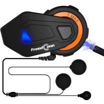 ILM Motorcycle Bluetooth Headset 6 Riders 1000M Helmet Communication Intercom System Soft Cabel Mic Speakers with FM Radio for Motocross Motor Bike Skiing