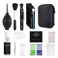 Professional Camera Cleaning Kit for DSLR Cameras, Electronics Bundle with Carrying Case, Non-Toxic Alcohol Free Cleaning Solution, Blower, Cleaning Swabs, Lens Pen, Microfiber Cloth