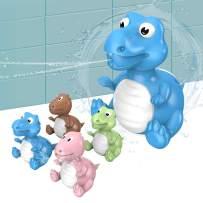 Baby Bath Toys Dinosaur Eggs Squirt Toys Dinosaur Water Squirt Guns 4 Piece Games Activities Toddler Bath Toys for Bathtub Squirt Toys for Kids Toddlers