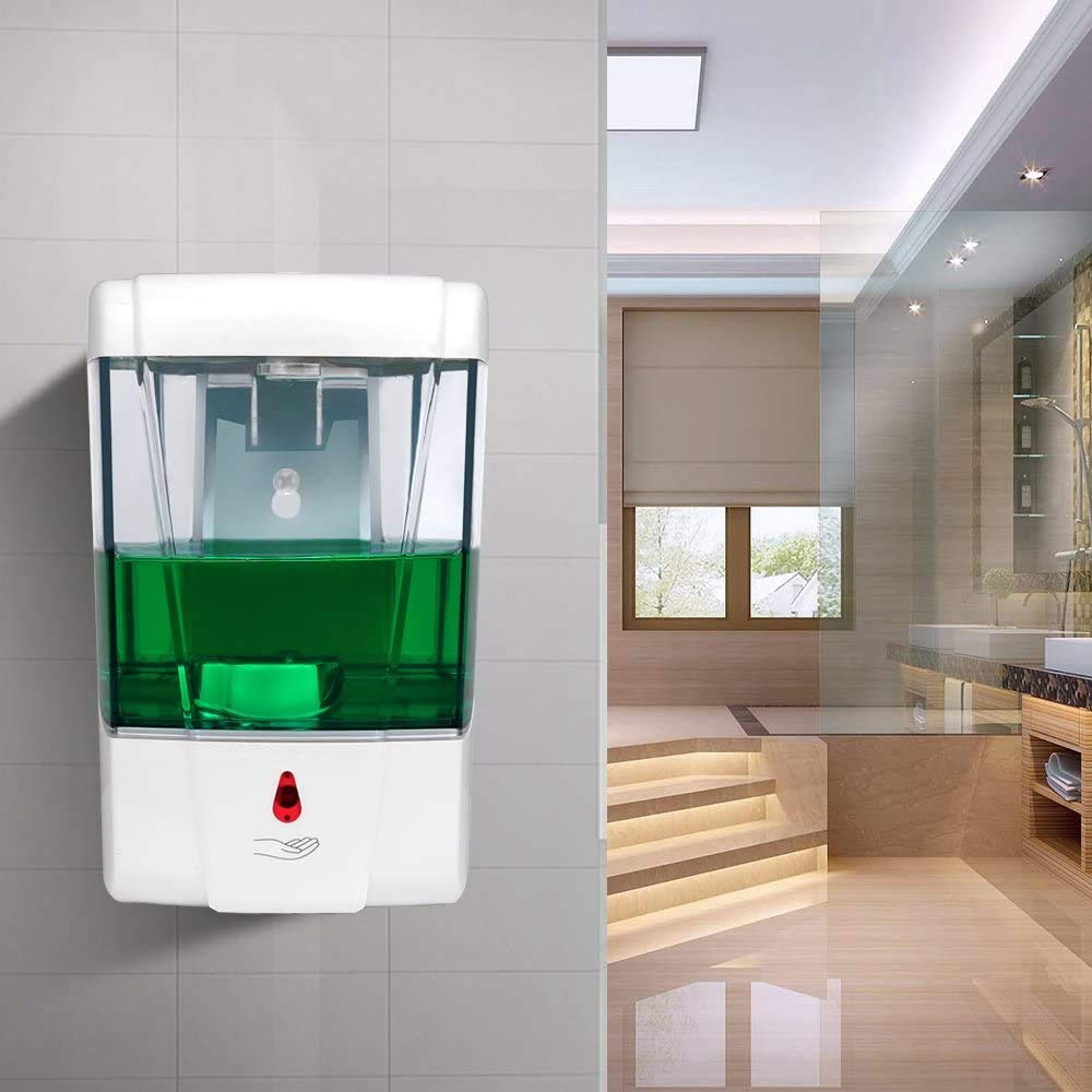 JE Make IT Simple Touchless Wall-Mounted Automatic Induction Soap Dispenser, Automatic Induction Sterilization,600 ml Large Capacity for Hotel, Office, School, Kitchen, Beauty Agency, Shopping mall