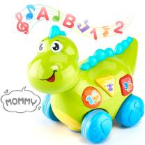 CubicFun Baby Musical Dinosaur Learning Toys for 1 2 3 Year Old Boys Girls, Lights up Crawling Educational Toys with Multiple Modes for Toddlers Baby 12-18 Months and up