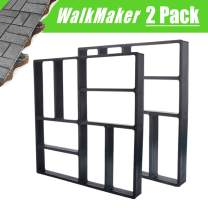 "2Pack 15.7""x15.7""x1.57"" Walk Path Maker Reused Concrete Molds Pathmate Stone Molding Stepping Stone Paver Walk Way DIY Path Paving Garden Yard Patio Mold (8-Grid)"