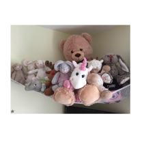 "Stuffed Animal Hammock, Huijukon Jumbo Toy Hammock Corner Toy Hammock Toy Storage Hammock Net Organizer | Size: 84"" x 59"" x 59"" for Stuffed Animals, Cuddly Toys, Teddies, Soft Toys (Toy Hammock)"
