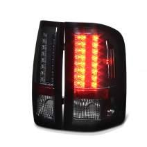 VIPMOTOZ Premium LED Tail Light Lamp For 2007-2013 Chevy Silverado 1500 2500HD 3500HD - Metallic Chrome Housing, Smoke Lens, Driver and Passenger Side